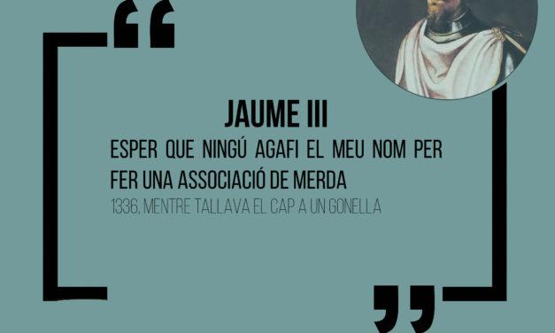 Cita històrica: Jaume III