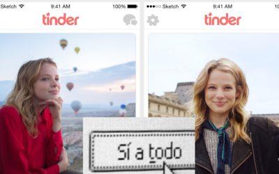 La nova versió de Tinder inclourà un boto de 'sí a todo'