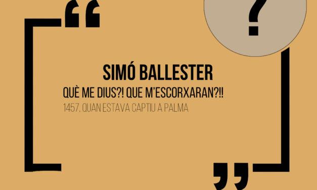 Cita històrica: Simó Ballester
