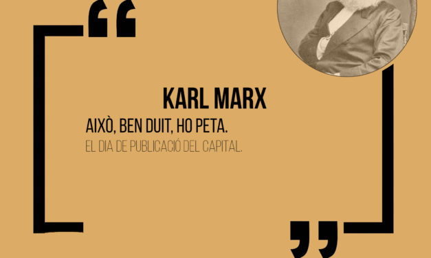 Cita històrica: Karl Marx